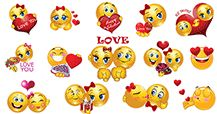 You'll fall in love with these cute love smileys that are perfect for saying 'I love you' in just the right way!