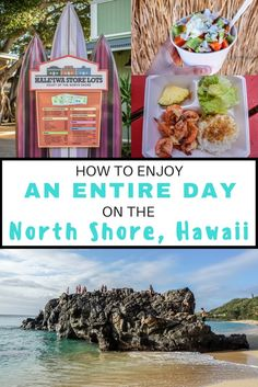 After you've had your cup of coffee, it's time to head up to North Shore. The question then becomes what do I do? If you don't know, here's something we've come up wi… North Shore Hawaii, Hawaii Usa, Hawaii Life, Honolulu Hawaii, Aloha Hawaii, Hawaii Beach, Oahu Vacation, Vacation Ideas, Couples Vacation