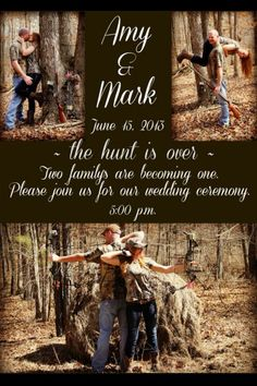 Wedding Invitations Country Engagement Pics 46 New Ideas Hunting Wedding, Camouflage Wedding, Our Wedding, Dream Wedding, Trendy Wedding, Wedding Stuff, Wedding Shit, Magical Wedding, Wedding Themes