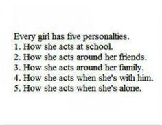 Cinco personalidades..