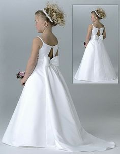 long train flower girl gowns | Lovely A-Line First Communion Dresses, Beaded Flower Girl Dresses - US ...