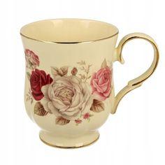 Kup teraz na Allegro.pl za 38 zł - Kubek porcelanowy 450 ml FLORENS w różyczki (8877856378). Allegro.pl - Radość zakupów i bezpieczeństwo dzięki Programowi Ochrony Kupujących! Teapots And Cups, Tea Pots, Flora, Tableware, Porcelain Ceramics, Dinnerware, Tablewares, Tea Pot, Plants