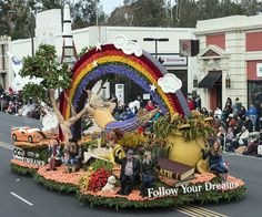 """The City of Torrance, California's, """"Follow Your Dreams"""" float in the 124th Rose Parade in Pasadena, California. Photo, January 1, 2013 by Carol M. Highsmith. The Jon B. Lovelace Collection of California Photographs in Carol M. Highsmith's America, Library of Congress, Prints and Photographs Division."""