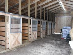 Horse Stall Kits | Stalls in the Log Horse Barn