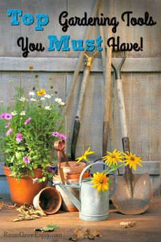 Ready to get your garden started? If you are new to gardening, you may want to check out my list of Top Gardening Tools You Must Have! http://reusegrowenjoy.com/top-gardening-tools-must/