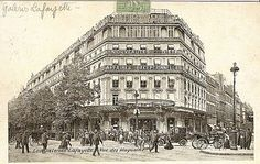 The Galleries Lafayette at the turn of the last century.