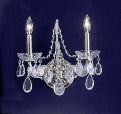"View the Classic Lighting 69732-CH 12"" Crystal Wallchiere from the Tivoli Collection at LightingDirect.com."