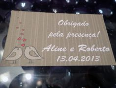 Tag personalizado para casamento - Atellier Print