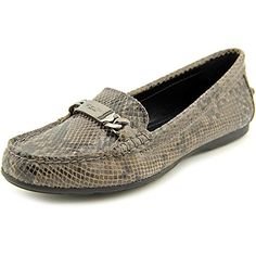 bb041b70a1e33 Coach Olive Sand Printed Snake Women Round Toe Leather Brown Loafer --  Check out the image by visiting the link.