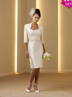 Sheath/Column Strapless Knee-length Satin Mother of the Bride Dress #USAFF529 - See more at: http://www.avivadress.com/wedding-apparel/mother-of-the-bride-dresses/cheap-mother-of-bridal-dresses.html?p=2#sthash.v480eT67.dpuf