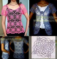 Tunika + Weste häkeln - crochet tunic + vest.
