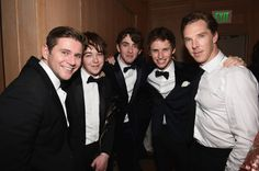 Actors Allen Leech, Alex Lawther, Matthew Beard, Eddie Redmayne, and Benedict Cumberbatch attend the Annual Palm Springs International Film Festival Awards Gala at Parker Palm Springs on January. Hot British Actors, British Boys, Matthew Beard, Palm Springs Film Festival, Allen Leech, Louise Brealey, The Imitation Game, Benedict And Martin, Benedict Cumberbatch Sherlock
