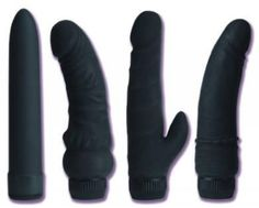 2nd from Right Clit Stimulator - 5 inch Velvet Touch supersoft material clit stimulating vibe is pliable and velvety soft. Totally waterproof and multi-speed. 2 AA batteries