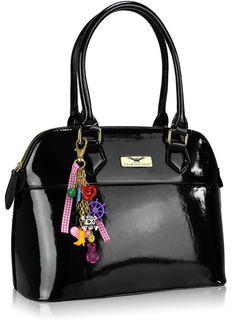 Divine And Dandy Black Patent Tote Bag 25 00