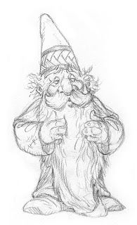 Gnomes and Faces Wizard Drawings, Elf Drawings, Pencil Art Drawings, Drawing Sketches, Christmas Gnome, Christmas Art, Fantasy Kunst, Fantasy Art, Colouring Pages