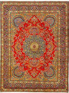 This is gorgeous!!  www.eSaleRugs.com  9' 10 x 12' 11 Red Kerman Area Rug