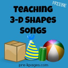Free Teaching 3D Shapes Song Printable for Preschool and Kindergarten