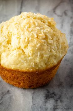 These lemon coconut muffins make the perfect breakfast or snack. Easy to make, they freeze well, and everyone loves them. Perfect for breakfast on the go! Lemon Dessert Recipes, Lemon Recipes, Baking Recipes, Cookie Recipes, Desserts, Loaf Recipes, Baking Ideas, Coconut Muffins, Lemon Muffins
