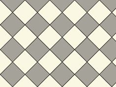 Original Style Oxford Victorian Tile Design - Grey/Dover White