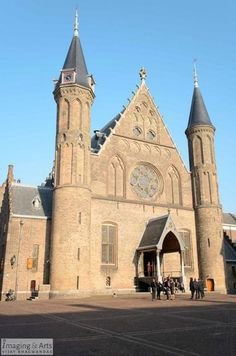 Historic Hall of Knight at the Dutch Innercourt at Binnenhof in The Hague, The Netherlands