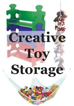 Some great storage ideas for when toys start taking over the house...