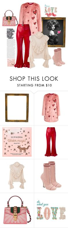 """""""Do what you love"""" by juliabachmann ❤ liked on Polyvore featuring Alice + Olivia, Sephora Collection, A.W.A.K.E., Fendi and Gucci"""