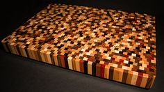 Beautiful Handcrafted End Grain Multiwood Countertop Large End Grain Butcher Block Large Cutting Board Wedding Gift Anniversary Gift Bday Large Cutting Board, End Grain Cutting Board, Wood Cutting Boards, Butcher Block Cutting Board, Butcher Blocks, Chopping Boards, Wood Crafts, Wood Projects, Woodworking Projects