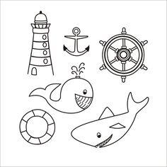 Sea Creatures Drawing, Creature Drawings, Painted Rocks, Tapas, Mermaid, Doodles, Education, Sailors, Painted Pebbles