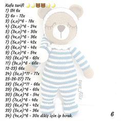 Crochet Baby, Smurfs, Origami, Free Pattern, Teddy Bear, Dolls, Knitting, Blog, How To Make