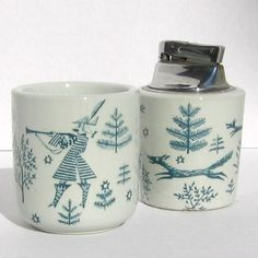 Nymolle Denmark Ceramics. Too bad that lighter isn't a second cup!