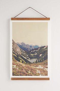 Wooden Print Dowel Hanger
