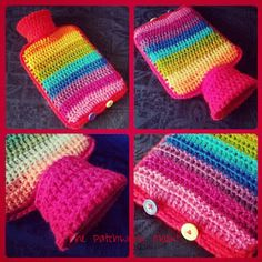 The Patchwork Heart: Keeping Britain warm! cute #crochet ideas for covering of hotties - no pattern