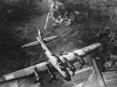Air Strike by Annex Military Plane Old Photograph Canvas Art Print
