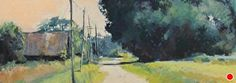 Down a Country Road by Lyn Asselta Pastel ~ 7 x 19