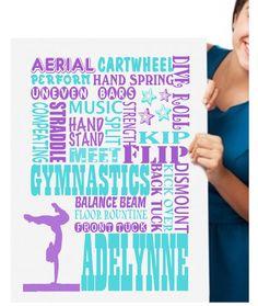 Gymnastics Wall Art gymnastics wall art, girl gymnast, cheerleader wall art, teen girl