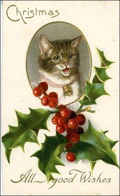 Vintage Christmas card via vintageholidaycrafts.com