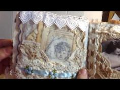 Junk journal by request. Vintage, distressed,feminine.  Altered book. - YouTube
