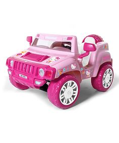 Look at this Hello Kitty Battery Operated SUV on #zulily today!