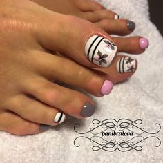 Pedicure Nail Art Design, If you've got hassle decisive that color can best suit your nails, commit to mirror this season or your mood! the acquisition value of being lazy and painting. Toe Nail Color, Toe Nail Art, Nail Colors, Pretty Toe Nails, Cute Toe Nails, Feet Nail Design, Toenail Art Designs, Cute Pedicure Designs, Pedicure Ideas