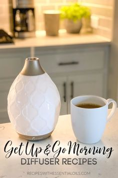 Get Up and Go in the Morning with these energizing diffuser blend recipes! The essential oil combinations are perfect for getting up and getting moving in the morning. Young Living Diffuser, Young Living Oils, Young Living Essential Oils, Essential Oil Combinations, Mist Diffuser, Homemade Essential Oils, Aromatherapy Recipes, Herbs For Health, Essential Oil Diffuser Blends