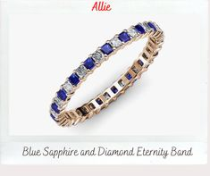 Sapphire Gemstone, Blue Sapphire, Love Blue, Center Stage, Something Blue, Eternity Bands, Custom Jewelry, Round Diamonds, Angles