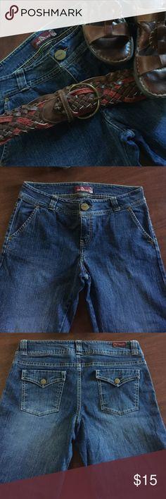 Jordache Trouser Jeans Size 10 $8 Jordache Dark Denim Trouser Jeans Lo-Rise Stretch $8 Jordache Jeans Flare & Wide Leg