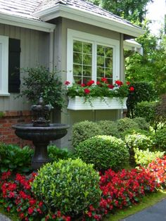 Window Box & Curb Appeal- WIndow boxes are always a great addition on ANY house.  Very Parade Of Gardens!