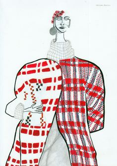 1st year fashion illustration from the University of Westminster