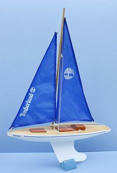 """Rare """"Timberland"""" advertising model yacht by Skipper Yachts."""