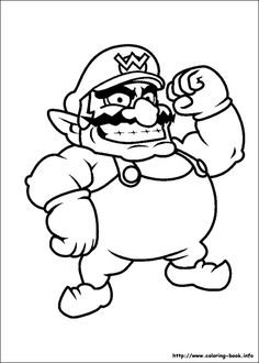 super mario bros coloring picture - Super Mario Bowser Coloring Pages