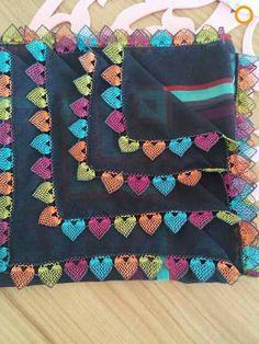 Heart-shaped Needle Lace Models Heart Shaped Needle Lace for Lovers İğne Oyası Crochet Borders, Filet Crochet, Saree Tassels Designs, Knit Edge, Crochet Needles, Needle Lace, Lace Making, Crochet Designs, Knitting Socks
