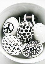 eastereggs; eggs; easter; black and white; peace; cross; dots