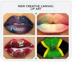 Another Published Article of some of my work from Beautylish.com: The New Creative Canvas: Lip Art