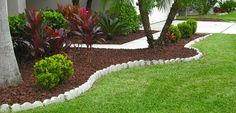 Simple and clean landscaping edging
